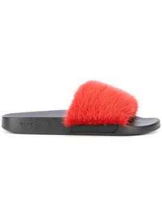 сандалии с отделкой из меха норки Givenchy