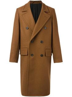 удлиненное двубортное пальто Ami Alexandre Mattiussi