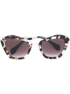солнцезащитные очки с мраморным узором Miu Miu Eyewear