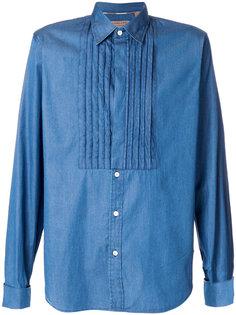 рубашка с плиссированным нагрудником Burberry