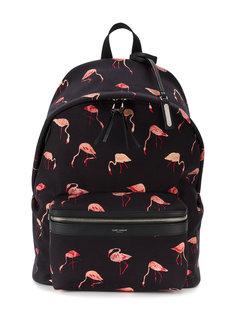рюкзак City с узором из фламинго Saint Laurent