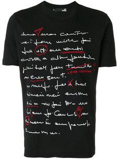 футболка с принтом надписи Love Moschino