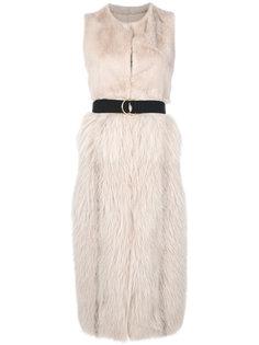 sleeveless fur coat Blancha