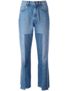 укороченные асимметричные джинсы Mih Jeans