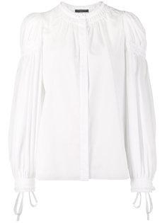 блузка с длинными присборенными рукавами Alexander McQueen