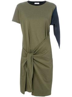colour block knot dress J.W.Anderson