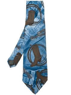 галстук с джинсовым принтом  Jean Paul Gaultier Vintage