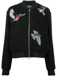 куртка-бомбер с вышитыми птицами Markus Lupfer