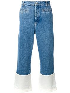 брюки с контрастными подворотами Loewe