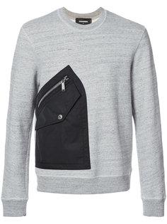 свитер с нашивкой кармана Dsquared2