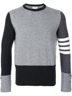 свитер с полосатыми вставками Thom Browne