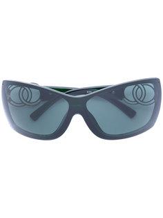 солнцезащитные очки с логотипом CC Chanel Vintage