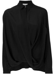 укороченная рубашка с драпировкой Moschino