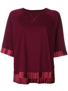 футболка с плиссировкой  Mm6 Maison Margiela