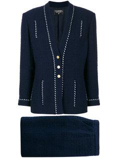 твидовый костюм с юбкой Chanel Vintage
