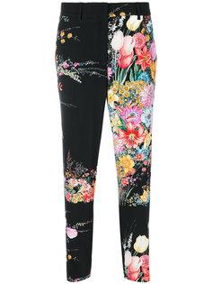 укороченные брюки с цветочным мотивом Nº21