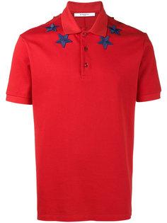 рубашка-поло с аппликацией звезд Givenchy