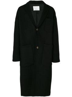 длинное пальто свободного кроя Société Anonyme
