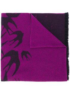 swallow print scarf McQ Alexander McQueen