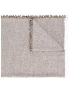 шарф с контрастной окантовкой Eleventy