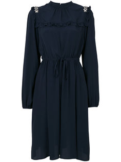 декорированное платье с завязками на талии Nº21