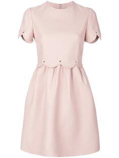 платье с фигурной отделкой  Valentino