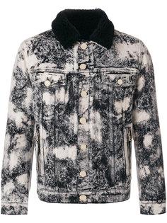 джинсовая куртка с мраморным узором Balmain
