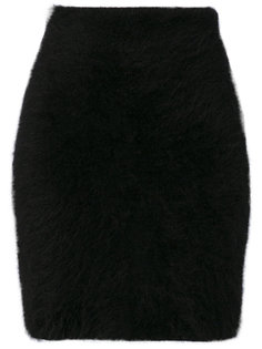 трикотажная мини-юбка  Balmain