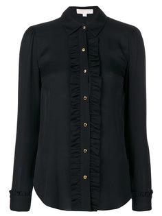 полупрозрачная рубашка с оборкой  Michael Michael Kors