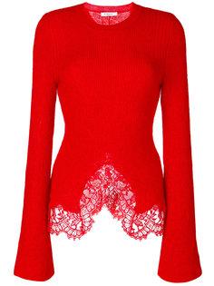 джемпер с кружевной отделкой Givenchy