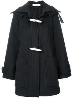 пальто с капюшоном и пуговицами тогл  Marni