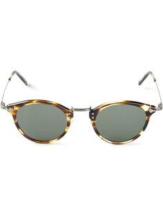 солнцезащитные очки в черепаховой оправе Masunaga