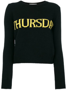 свитер с принтом Thursday  Alberta Ferretti