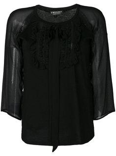 блузка с прозрачными рукавами  Twin-Set
