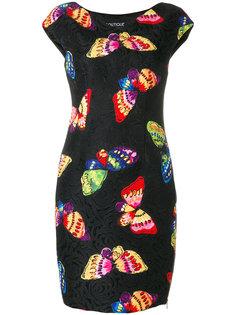 платье с принтом бабочек  Boutique Moschino