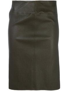 приталенная кожаная юбка Joseph