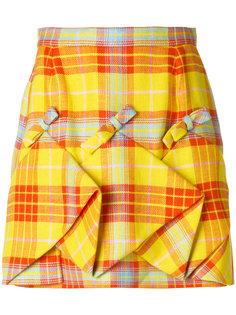 юбка со сборками в клетку Delpozo
