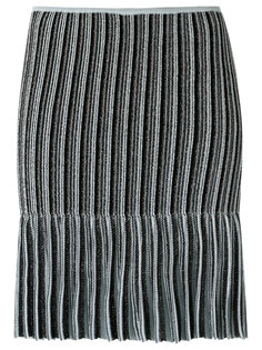 ribbed knit straight skirt Gig
