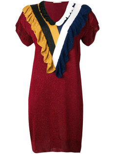 платье с отделкой из бахромы Marco De Vincenzo