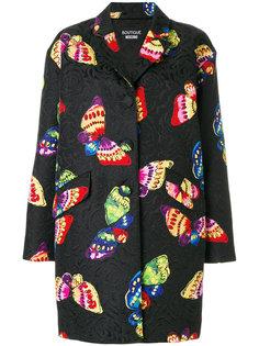 пальто с принтом бабочек  Boutique Moschino