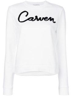 толстовка с принтом-логотипом Carven