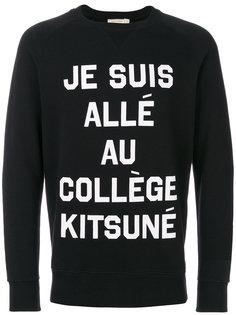 Je Suis Allé sweatshirt Maison Kitsuné