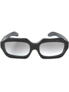солнцезащитные очки в прямоугольной оправе  Kuboraum