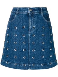 юбка с серебристыми кольцами  Stella McCartney