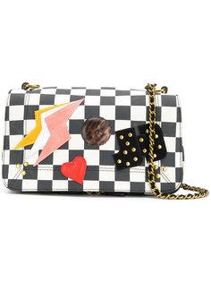 checkerboard bag with patchwork appliqué Jérôme Dreyfuss