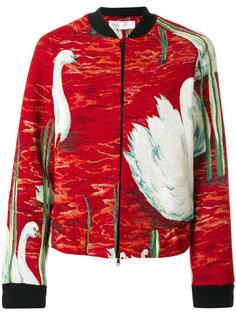 куртка-бомбер с вышивкой  Victoria Victoria Beckham