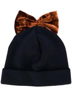 шапка с бантом с вышивкой Federica Moretti