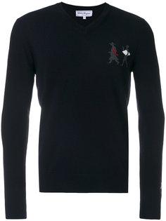декорированный свитер с V-образной горловиной Salvatore Ferragamo