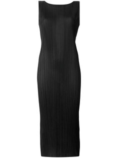 плиссированное приталенное платье миди  Pleats Please By Issey Miyake