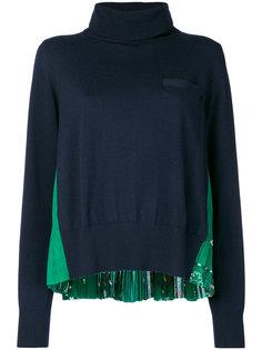 свитер со складками сзади  Sacai